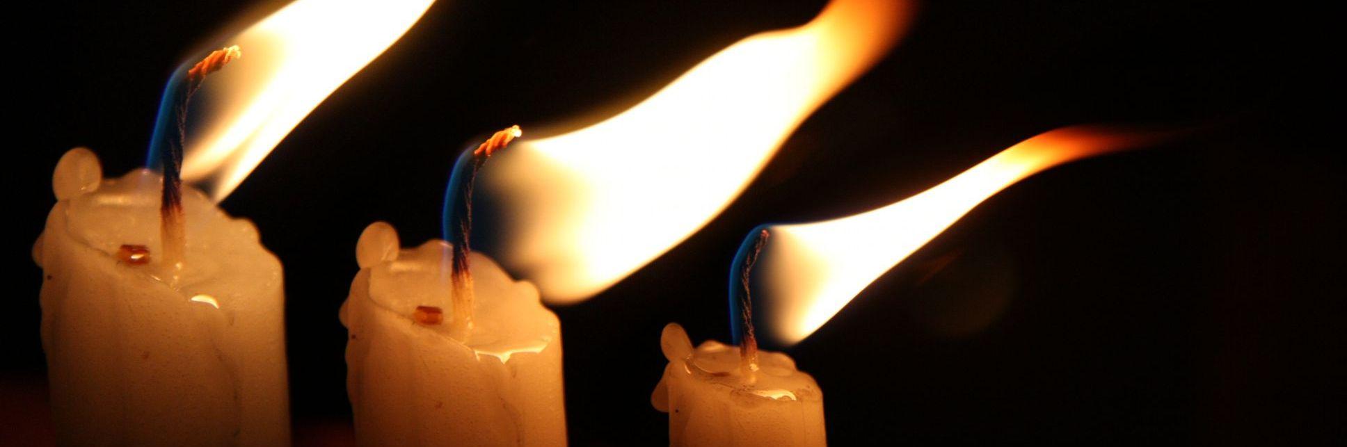 Cura para o Natal velas